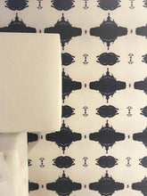 Load image into Gallery viewer, 10216 Navy White Grasscloth Wallcovering