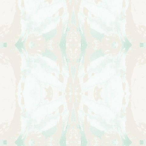 125-5 Teal Ivory Wallcovering