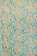 Load image into Gallery viewer, Paisley - Turquoise on Old Grey Fabric