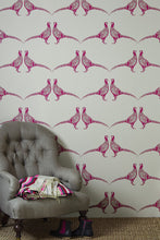 Load image into Gallery viewer, Pheasant - Pink Wallcovering