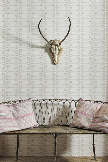 Arrows - Blush Wallcovering