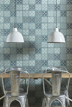 Load image into Gallery viewer, Fleur de Lys Tile - Canteen Blue Wallcovering