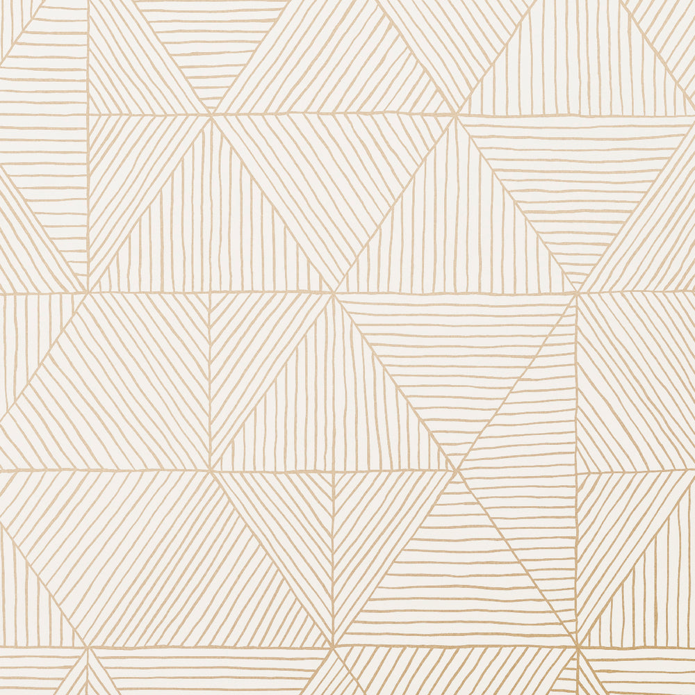 2.0 - Gold on White Wallcovering