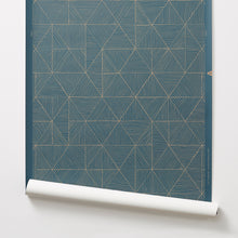 Load image into Gallery viewer, 2.0 - Gold on Blue Wallcovering