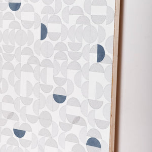 Arc Embroidered Wallcovering Navy
