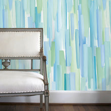 Load image into Gallery viewer, Sea Salt Blue Wallcovering