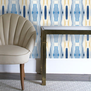Creamy Blue Wallcovering