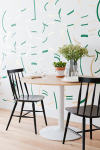 Offset Fir Green+Gold Wallcovering