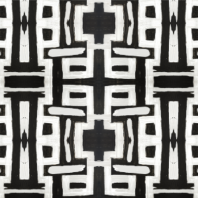 81613 Black White Inverse Fabric