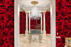 Vie En Rose Red Type ll Wallcovering