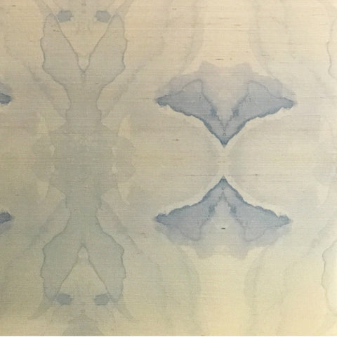 4116 Illusion Blue Grasscloth Wallcovering
