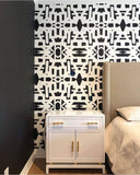 82113 Black White Inverse Alta Wallcovering