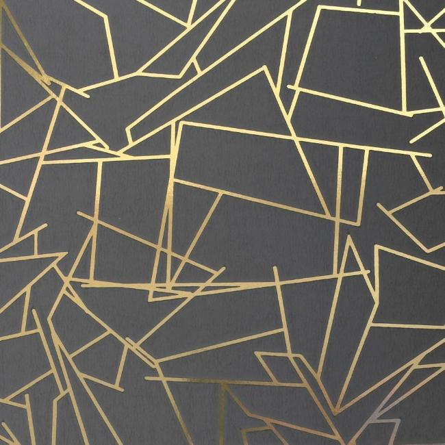 Angle Gold Lead Grey Wallcovering