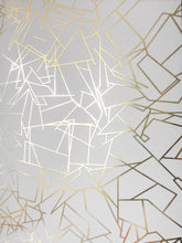 Load image into Gallery viewer, Angle Gold White Wallcovering