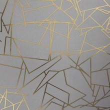Load image into Gallery viewer, Angle Gold Zinc Grey Wallcovering