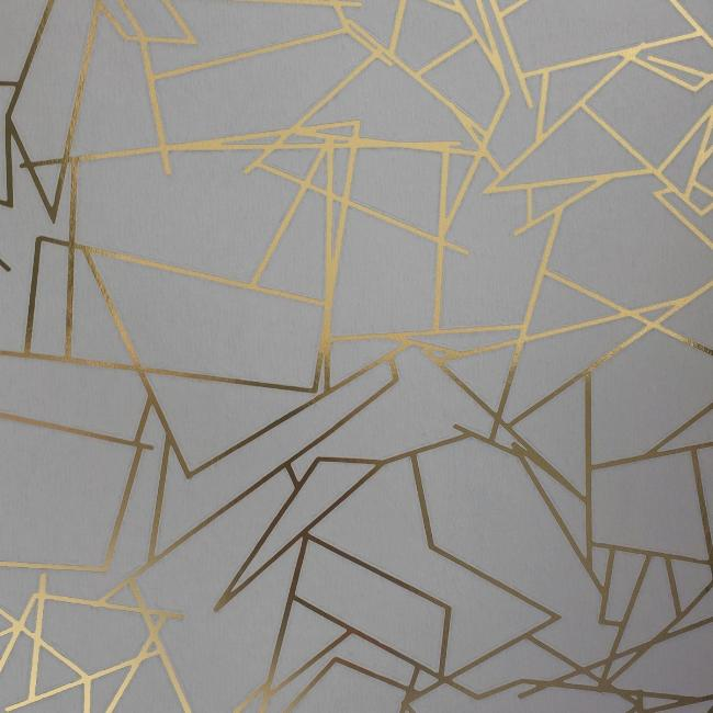 Angle Gold Zinc Grey Wallcovering