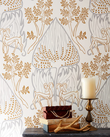 ARABIAN NIGHTS-Gold Wallcovering