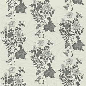 AUNT IVY Light Smoke Wallcovering