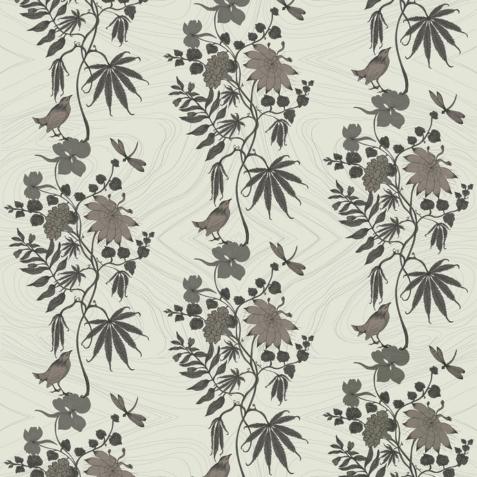 AUNT JANE Smoke Wallcovering