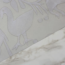 Load image into Gallery viewer, Aves Embroidered Grey Wallcovering