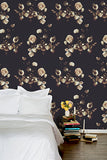 Creamy Black Wallcovering