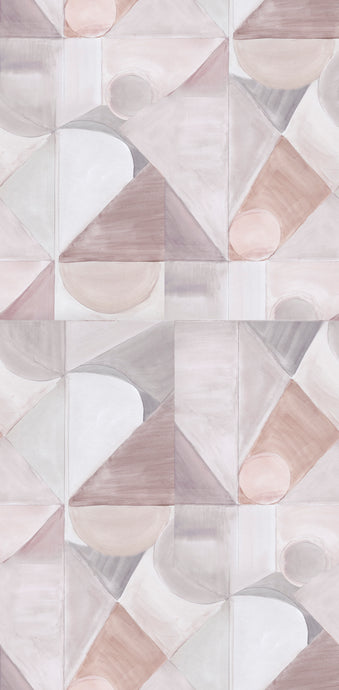 Abstract Isle Ash Rose Wallcovering