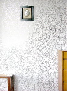 Angle Silver White Wallcovering