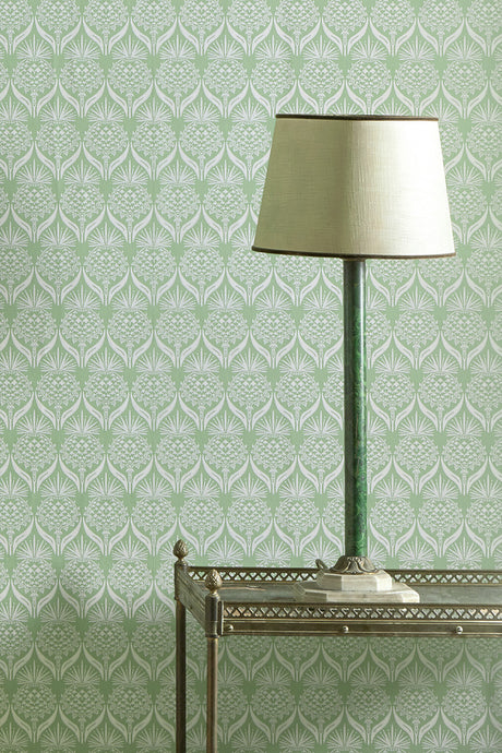 Artichoke Thistle - Spring Green Wallcovering