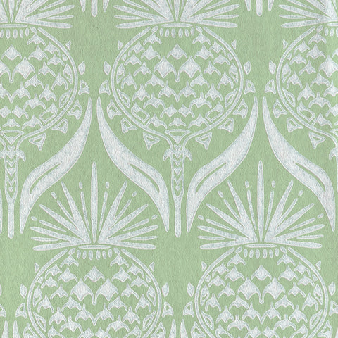 Artichoke Thistle Wallpaper - Spring Green