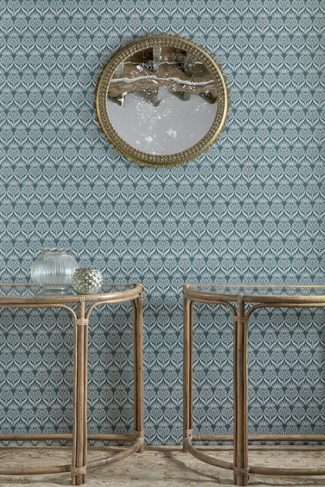 Artichoke Thistle - Teal Wallcovering