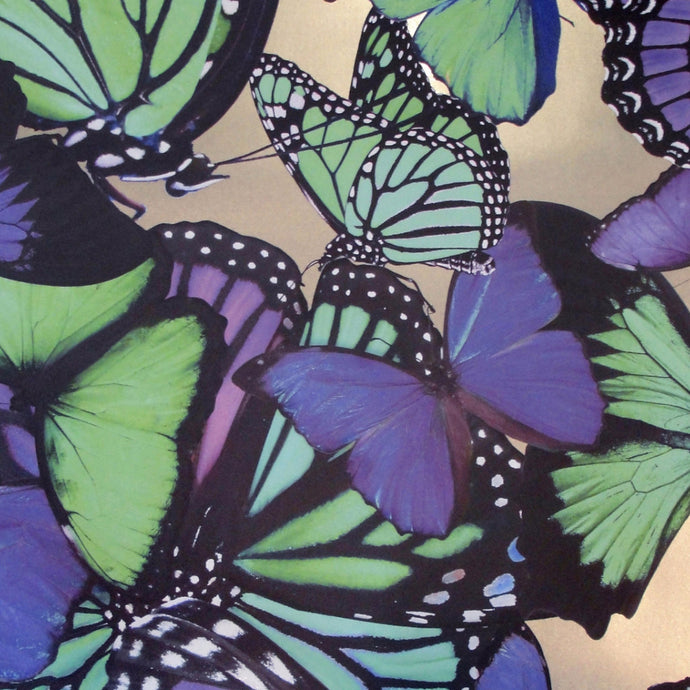 Butterflies Violet & Emerald Type ll Wallcovering