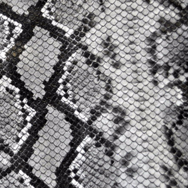 Python Black Grey and White Printed Leather