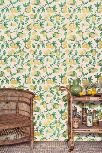 Capri Lemons - Natural Wallcovering