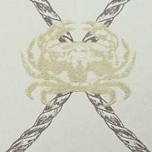 Load image into Gallery viewer, Crab - Gold Charcoal Wallcovering