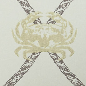 Crab - Gold Charcoal Wallcovering
