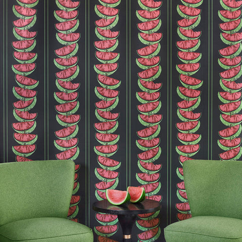 Watermelon Charcoal Wallpaper