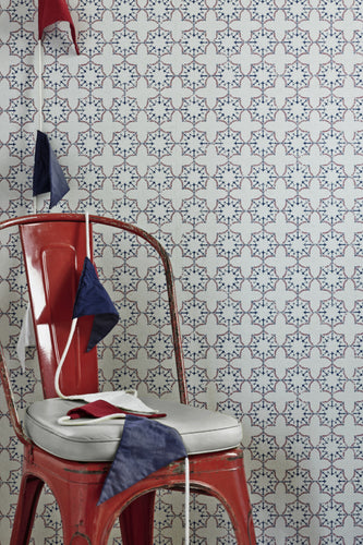 Anchor Tile - Red White Blue Wallpaper