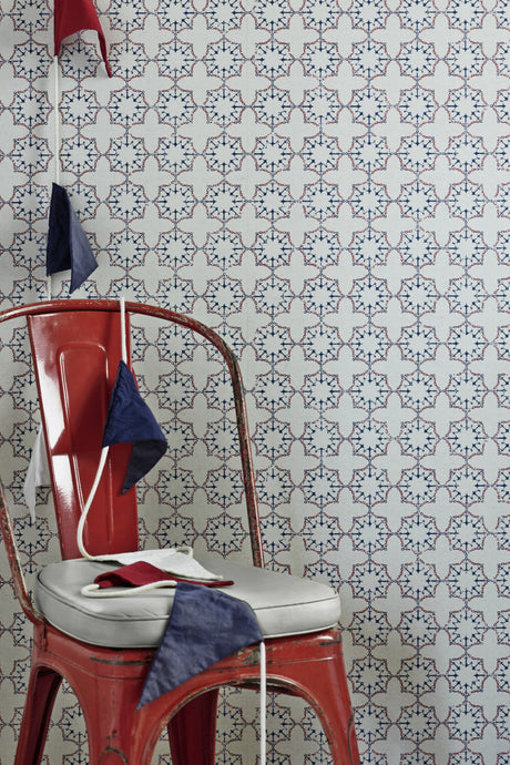 Anchor Tile - Red White Blue Wallcovering
