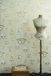 Carpe Noctem - Lime Gold Wallcovering