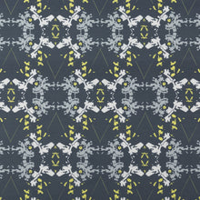 Load image into Gallery viewer, Blackish Magic (Midnight/Chartreuse) Fabric