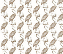 Load image into Gallery viewer, Blue Heron White Cafe Fabric