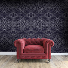 Load image into Gallery viewer, GRAHAM Charcoal & White Wallcovering