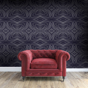 GRAHAM Charcoal & White Wallcovering