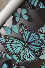 Load image into Gallery viewer, Butterflies Turquoise on Nickel Type ll Wallcovering