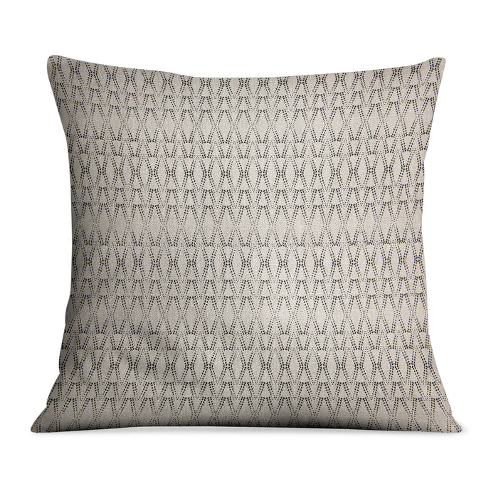 Ketut Black On Natural Linen Pillow