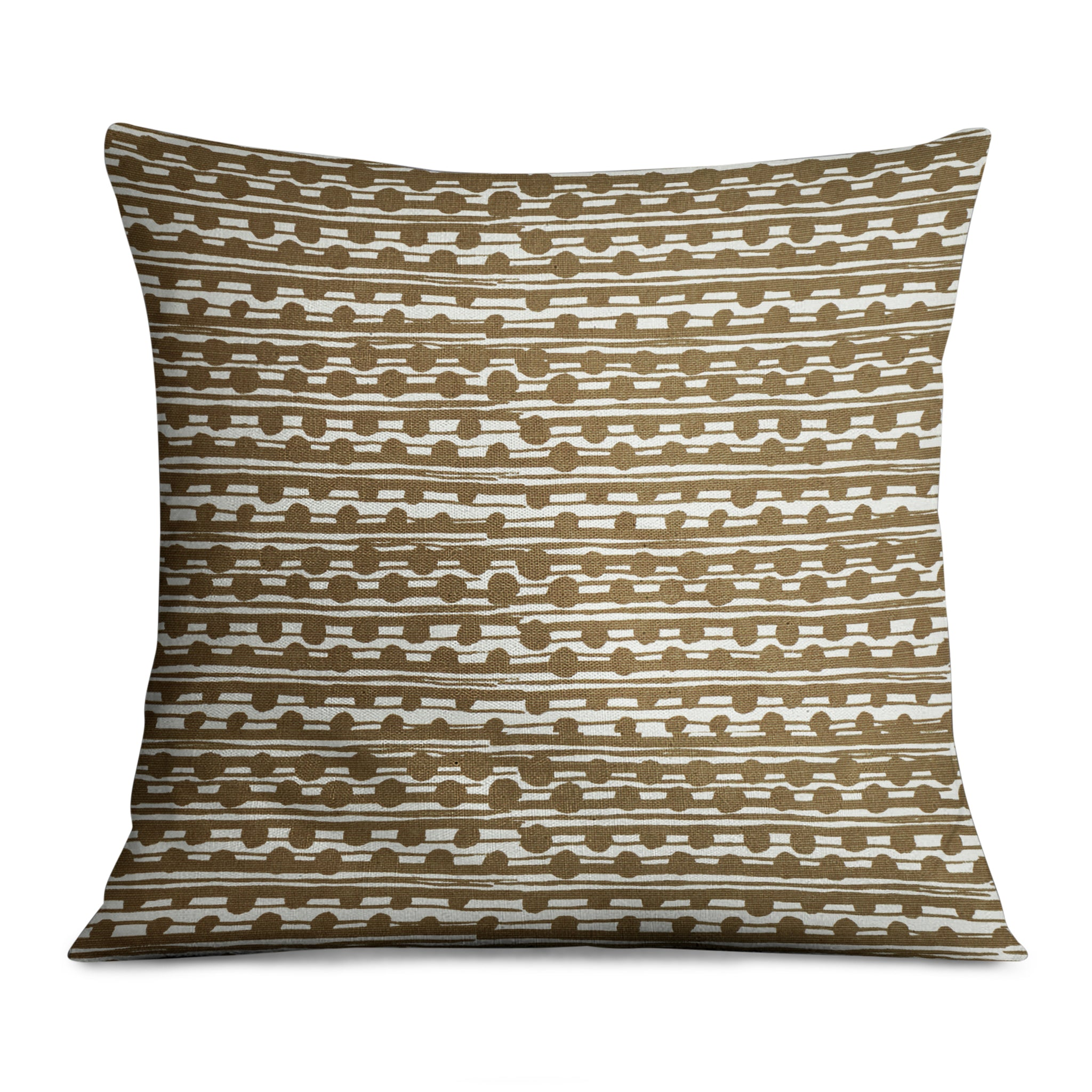 Gamal Ochre on Ecru Pillow