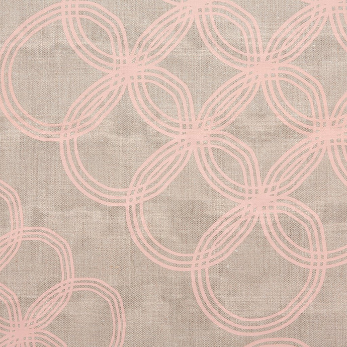 Arja Copper Peach On Natural  Fabric