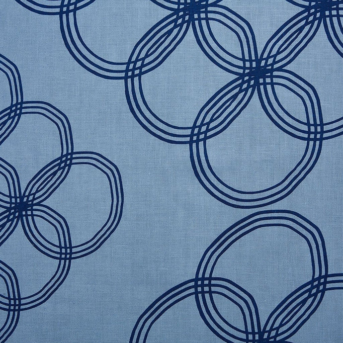 Arja  Navy On Monsoon Linen Fabric