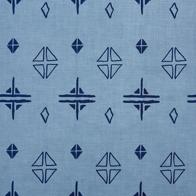 Berlain Navy On Monsoon Linen Fabric