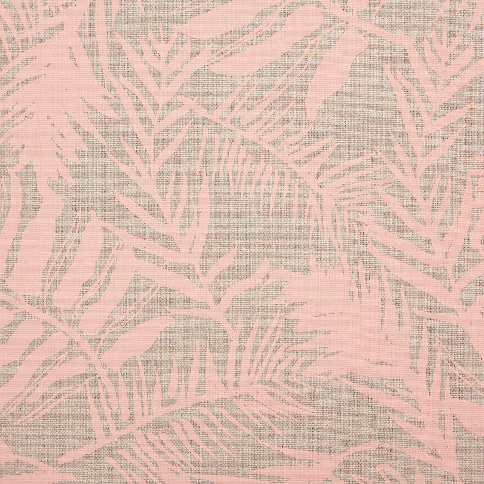 Hutan Copper Peach On Natural Linen Fabric